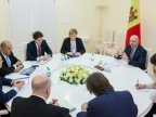 Moldovan Prime Minister Pavel Filip discusses joint projects with officials from EBRD