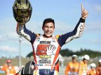 Marc Marquez wins third MotoGP crown in Motegi, Japan