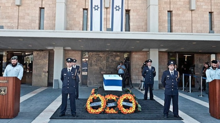 Moldovan delegation attends funerals of former president of State of Israel