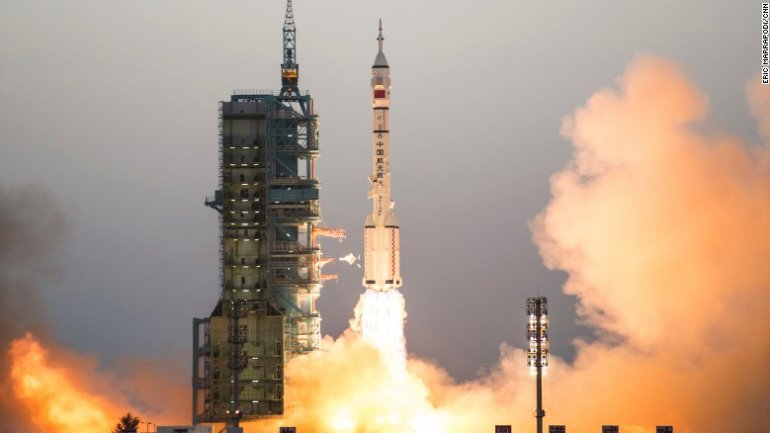 China's longest space mission launches
