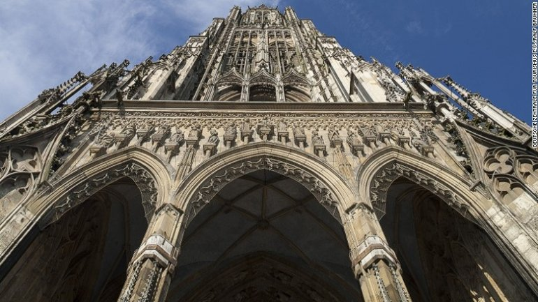 Urine is eroding the world's tallest church tower