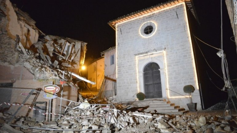 Two powerful quakes hit Italy near site of deadly August quake