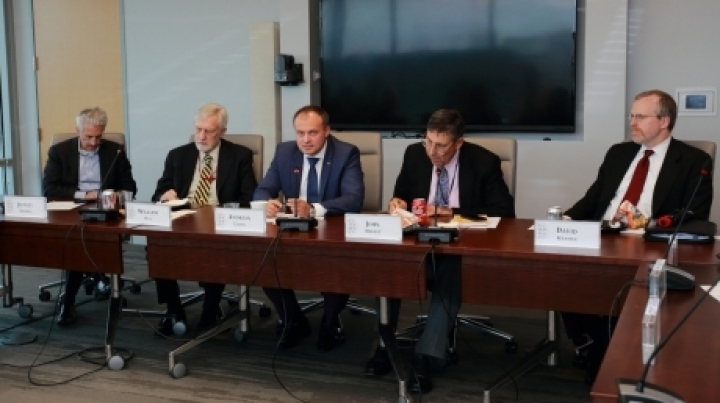 Parliament Speaker Andrian Candu attended roundtable organized by Atlantic Council