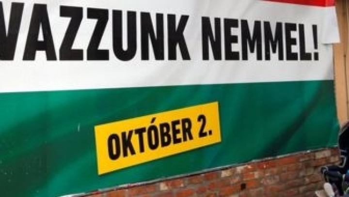 Hungary votes on referendum on migrant plan