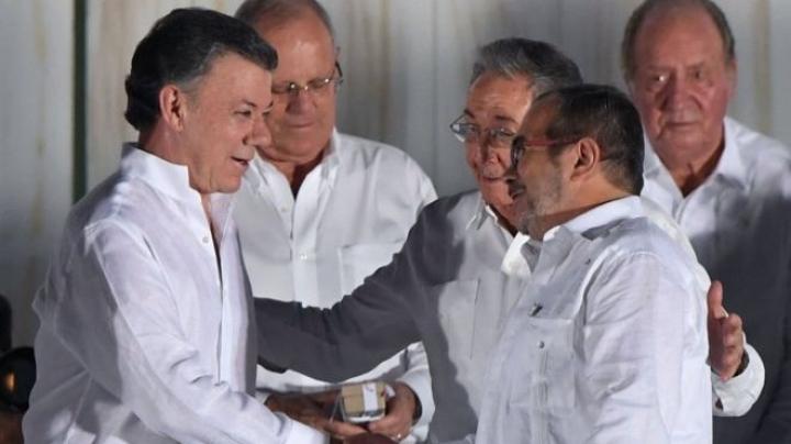 Colombian president Santos donates Nobel Peace prize money to conflict victims of civil war