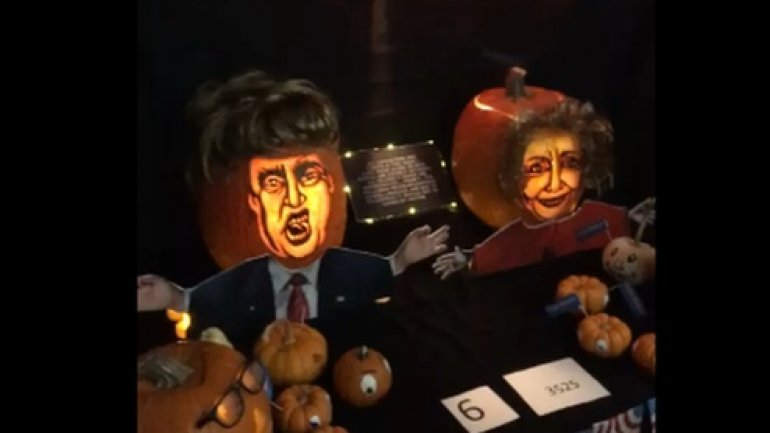 Nasa engineers carve hi-tech pumpkins in annual competition