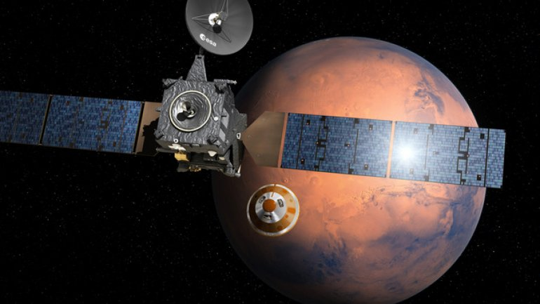 European space probe starts three-day descent to Mars