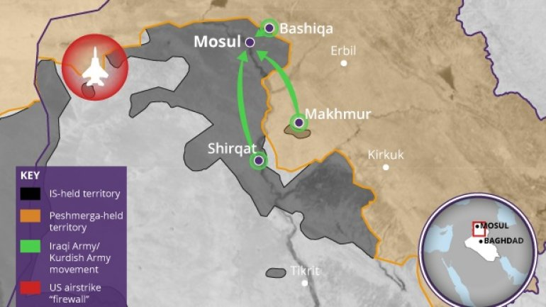 BATTLE FOR MOSUL. Shi'ite militias start attack from west