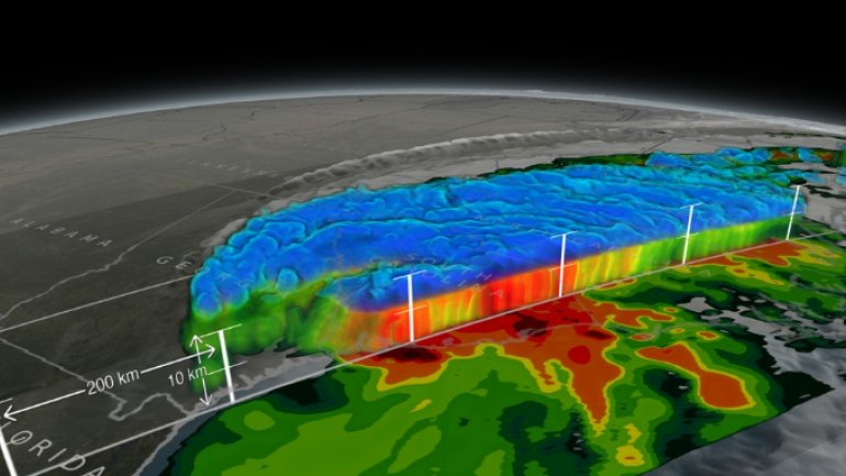 This 3D video shows massive amount of rain Hurricane Matthew dumped on the US Southeast