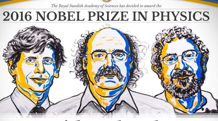 Nobel prize in physics 2016 won by three British scientists