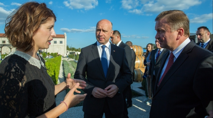 Premiers of Belarus and Moldova visited winery on Wine Day