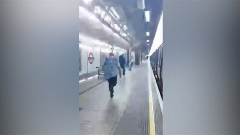 Heroic woman chases after man who punched Asian passenger in face