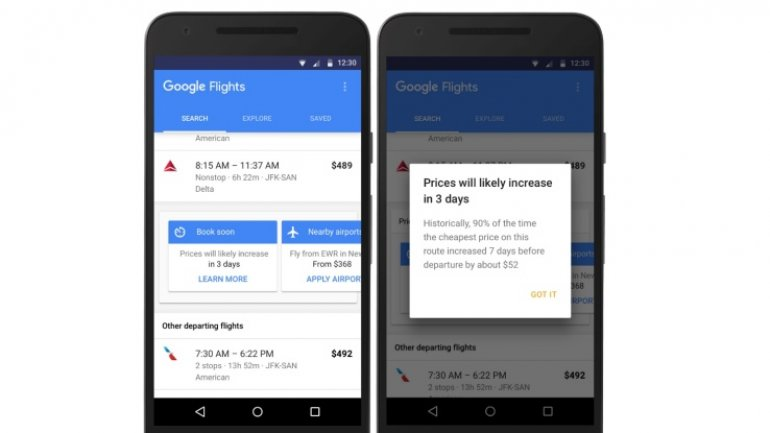 Google Flights will now help you find cheaper tickets