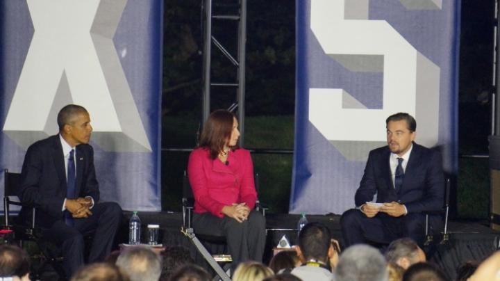 Obama, Leonardo DiCaprio and scientist Katharine Hayhoe talk climate change