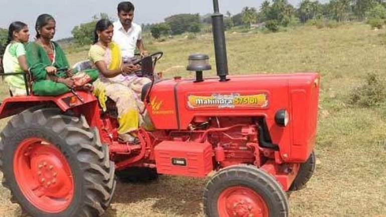 In India, you can order a tractor, as you do a Uber driver
