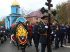 Firefighter, fallen during fire on Uzinelor street, accompanied with military honors