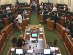 Late-night vote catches members of Parliament half-dressed