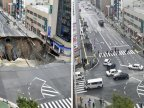 Japan fixes vast Fukuoka city sinkhole in two days