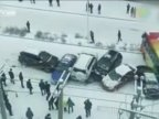 9 vehicles pile up domino-style on icy road in Northeast China (VIDEO)