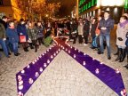No to domestic violence! Dozens of persons lit candles in support of victims of domestic violence