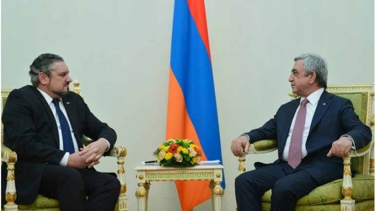 Moldovan foreign minister received by Armenian president