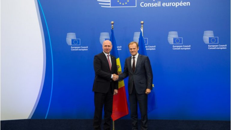 Moldovan PM meets with President of European Council, Donald Tusk