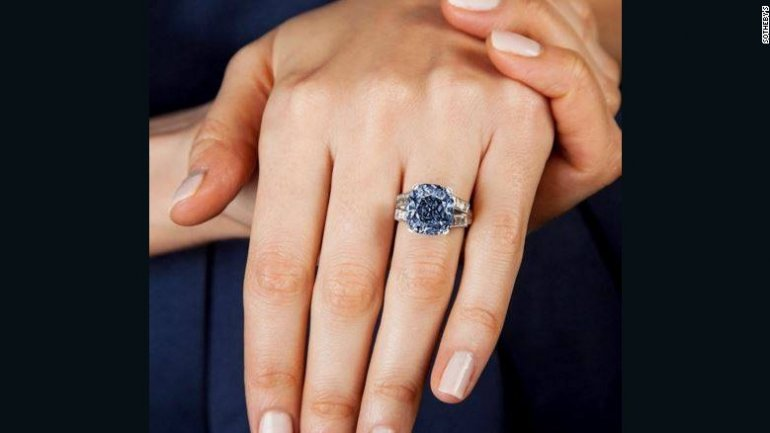 8.01 carat rare blue diamond put on auction for $25 million