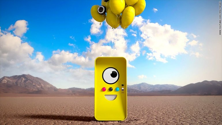 Snapchat unveils strange vending machine for its sunglasses