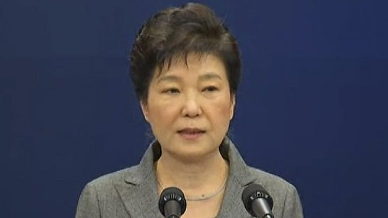 South Korea's president calls on parliament to arrange her exit