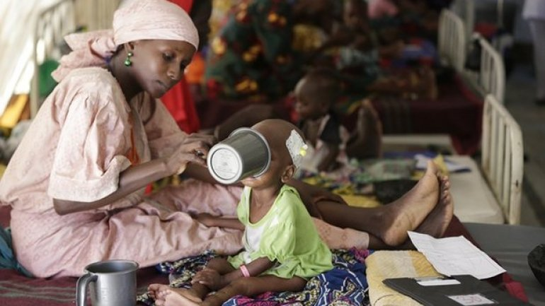 Tens of thousands of children at risk of starvation in Nigeria crisis