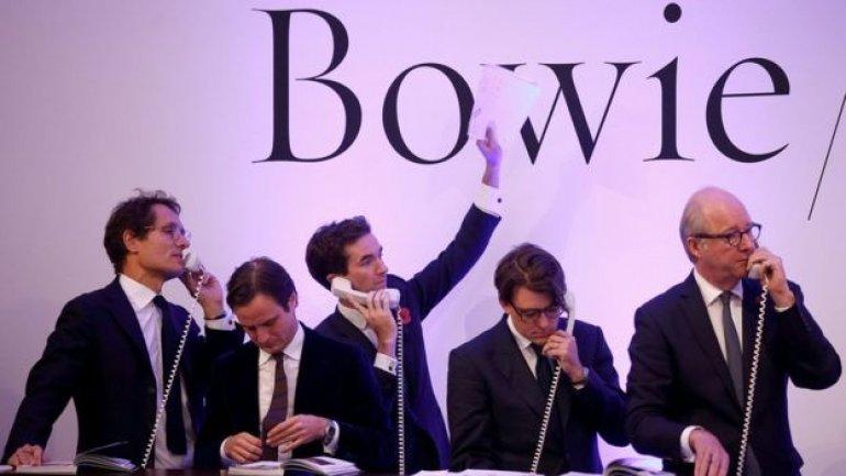 David Bowie art auction smashes estimate with 24m pounds total