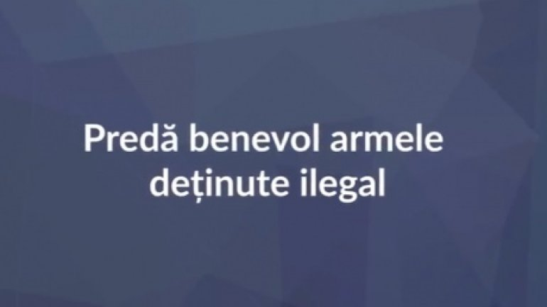 Moldovan police unfold campaign on surrendering firearms free