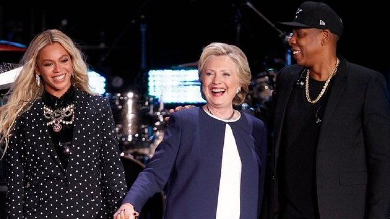 Hillary Clinton backed by Beyoncé and Jay Z in Ohio