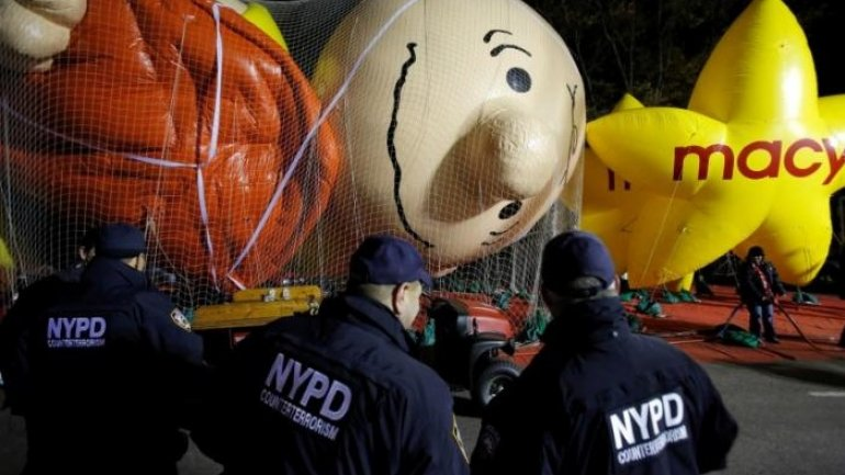 New York using sand-filled trucks to protect Thanksgiving parade