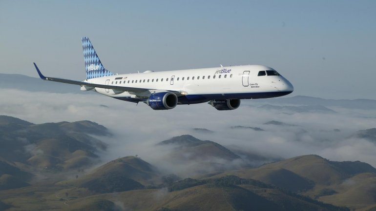 New Embraer plane, added to Air Moldova carrier's fleet