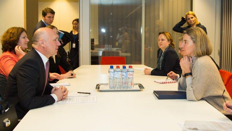 Prime minister meets European Commission Vice-President Federica Mogherini
