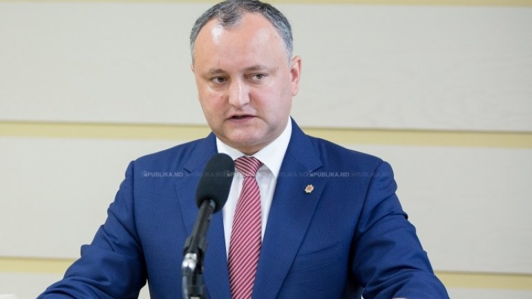 Igor Dodon: Regardless of the results, we should have quiet within society