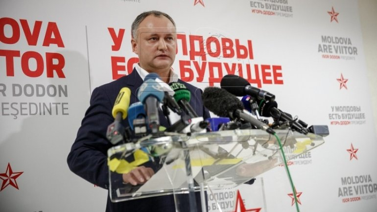 Igor Dodon: I will be the president of all, of the ones willing to be in EU and of the ones willing to be near Russia