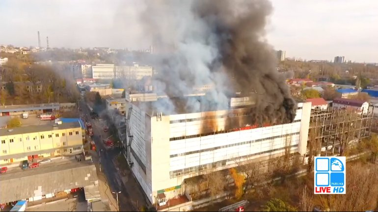 Huge fire in Chisinau. Entire city covered in plastic smell and smoke (PHOTO)
