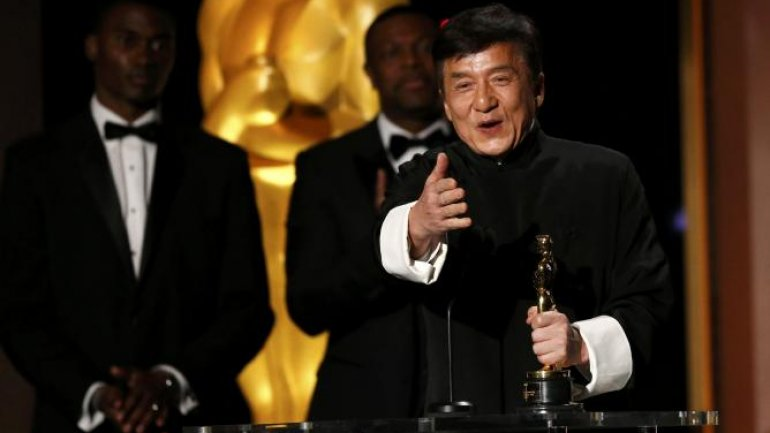 After 56 years, more than 200 films and uncountable broken bones, Jackie Chan wins an Oscar