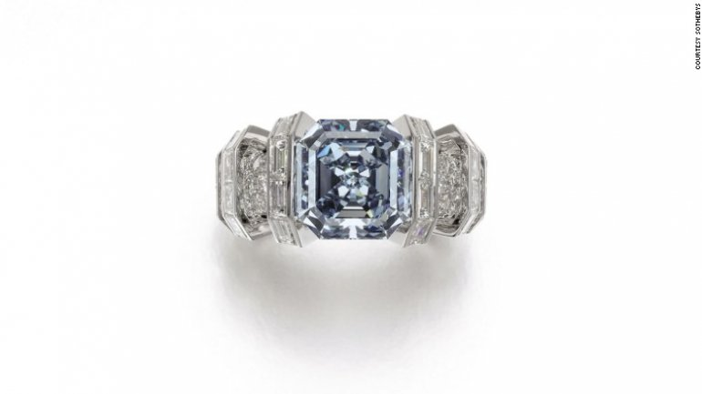 8.01 carat rare blue diamond put on auction for $25 million