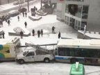 Slippery slope: slo-mo snow mayhem in Montreal as buses, cars and trucks crash (VIDEO)