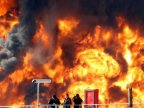 Fuel tank ablaze in Oil Refineries in Israeli city of Haifa