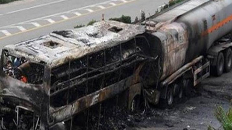 At least 14 dead, more than 40 injured as fuel tanker hits bus in Afghanistan