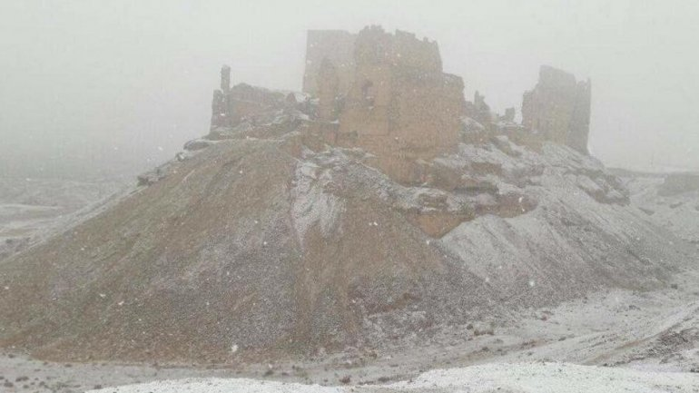 Snow falls in Syria for first time in 25 years (VIDEO)