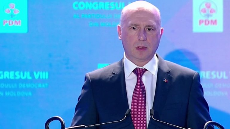 Pavel Filip at PDM Congress: I no longer wish to manage crises, but to develop Moldova