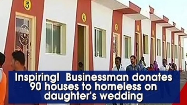 indian businessman spends daughter s marriage budget on 90 houses