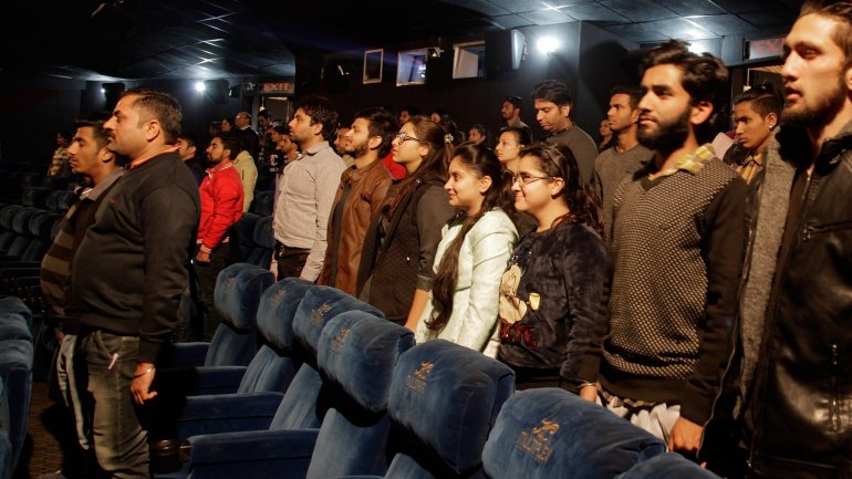 Moviegoers arrested for refusing to stand for India's national anthem