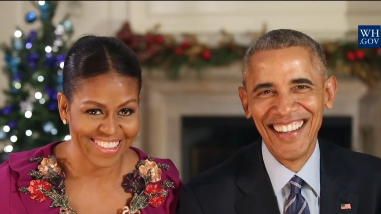 President Barack Obama and First Lady Michelle Obama last Christmas address