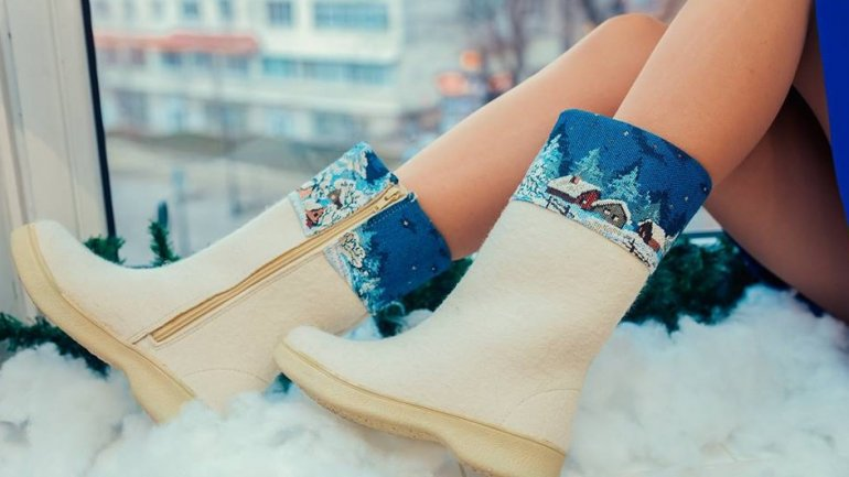 Moldovan designers amaze customers with most creative ideas of felt boots